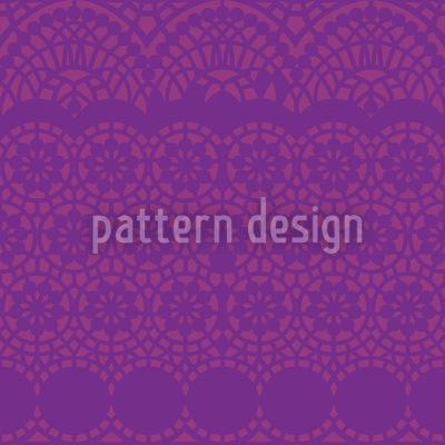 Alhambra Purple Seamless Vector Pattern