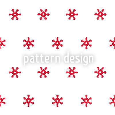 Snowflakes Red Seamless Vector Pattern Design