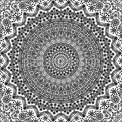 Mandala De Pois Motif Vectoriel Sans Couture