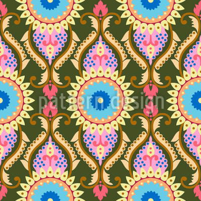 Orientalische Sonnenblumen Designmuster