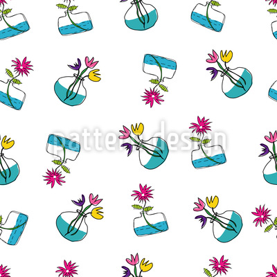 Blumen In Vasen Designmuster