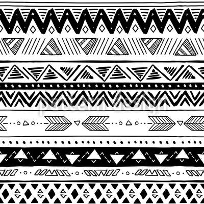 Rayas aztecas Estampado Vectorial Sin Costura