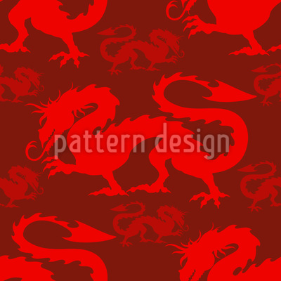 Chinese Dragon Seamless Vector Pattern
