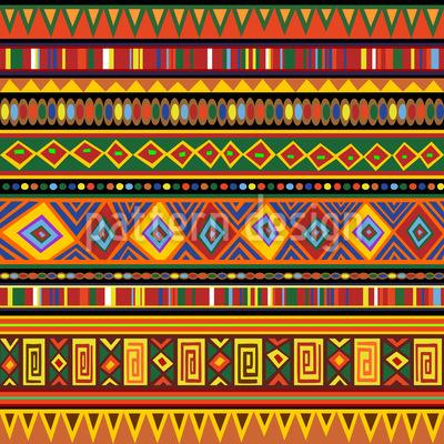 Ethnic Africa Art Design Pattern