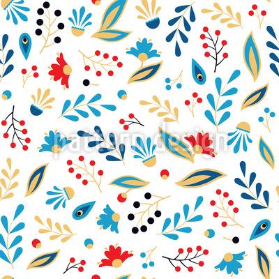 Volkstümliche Blätter Designmuster