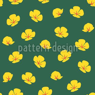 Einfache Mohnblumen Vektor Muster