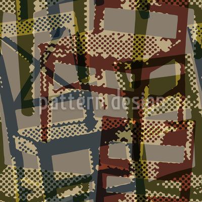 Grunge Stühle Muster Design