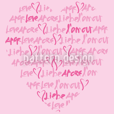 Declaration Of Love Seamless Pattern
