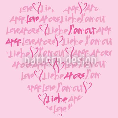 Liebeserklärung Nahtloses Muster