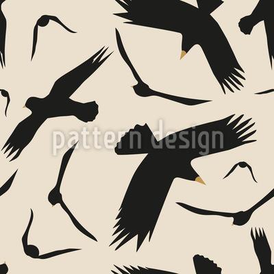 Die Vögel Nahtloses Vektormuster