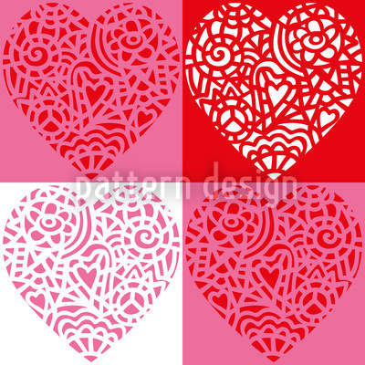 Hearty Red Seamless Vector Pattern