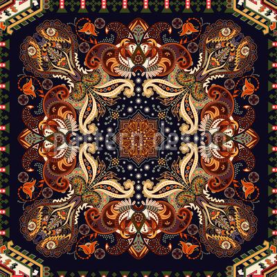 Indisches Dekoratives Paisley Nahtloses Vektormuster