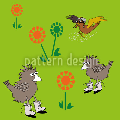 Meadow Birds Vector Design