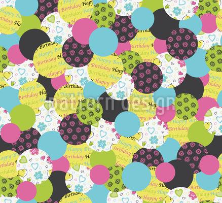 Geburtstag Buttons Grün Rapportiertes Design
