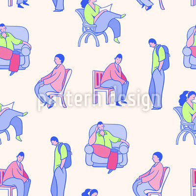 People Pattern Design