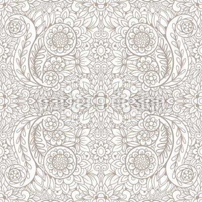 Einfarbiger Paisley-Druck Nahtloses Vektormuster