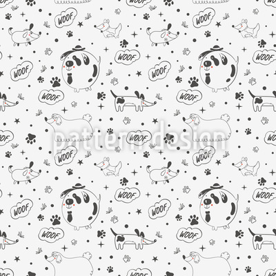 Dog Magic Repeat Pattern