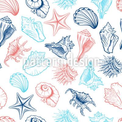 Sommer-Muscheln Musterdesign