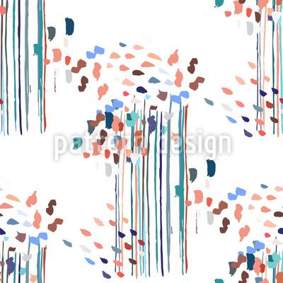 Abstrakte Fantasiepflanzen Designmuster