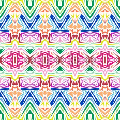 Kaleidoskopische Inspiration Nahtloses Muster
