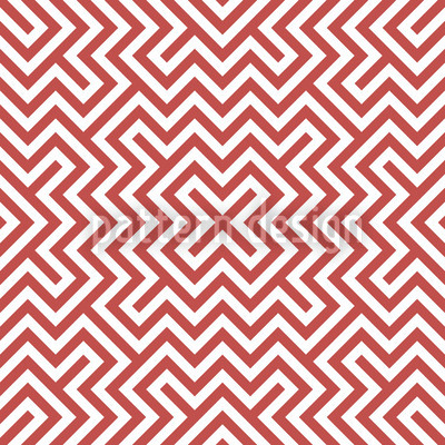 In The Center Red Seamless Vector Pattern Design