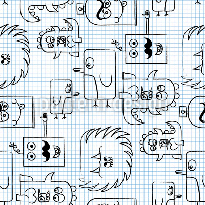 Papermonsters Seamless Vector Pattern Design