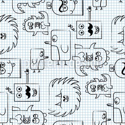 Papiermonster Vektor Muster