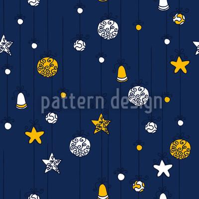 Weihnachtsschmuck Blau Rapportiertes Design