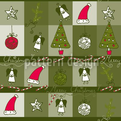 Weihnachtstraum Grün Nahtloses Vektormuster