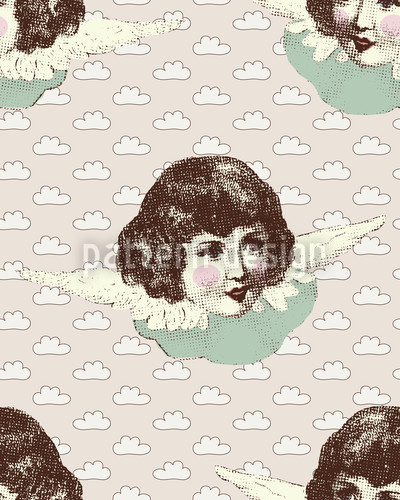 Angel Baby Vector Pattern