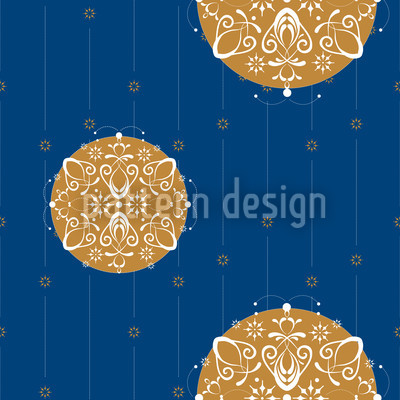 Abstract Christmas Ornaments Seamless Vector Pattern Design