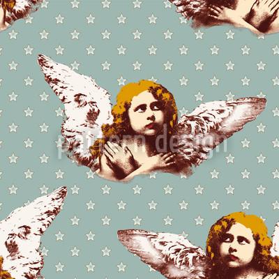 Mon ange gardien Motif Vectoriel Sans Couture