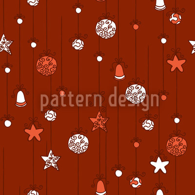 Christmas Tree Decorations Red Pattern Design