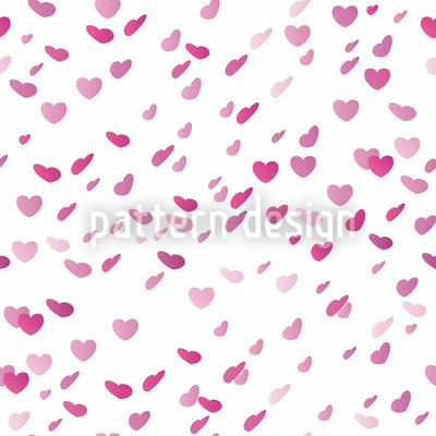 Herzchenregen Am Valentinstag Nahtloses Vektormuster