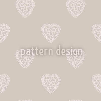 Romantic Hearts Seamless Vector Pattern Design