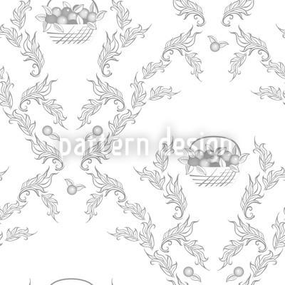 Petit Panier Gris Seamless Vector Pattern Design