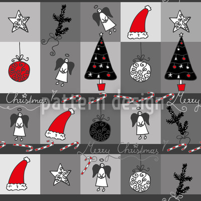 Christmas Dream Anthracite Seamless Vector Pattern Design