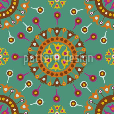 Oceano Wayuu Ethno Design de padrão vetorial sem costura