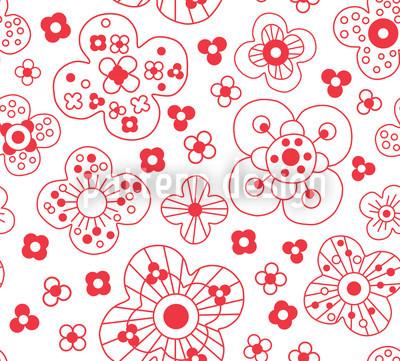 Catherine White Seamless Vector Pattern Design