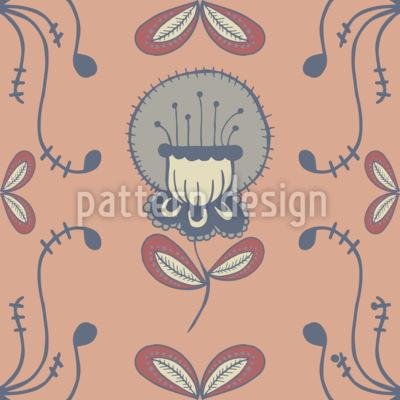 ラインフローラル シームレスなベクトルパターン設計