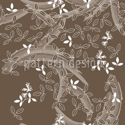 Buschklee Braun Vektor Ornament