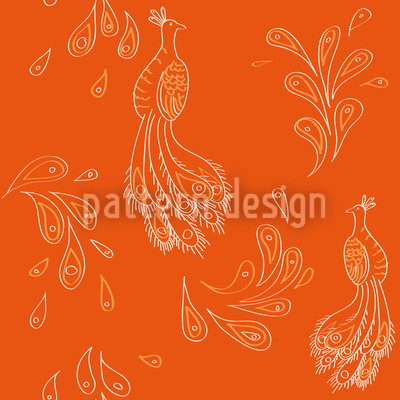 Maharani Orange Vector Pattern