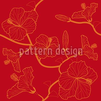 Hibiskustraum In Rot Vektor Design