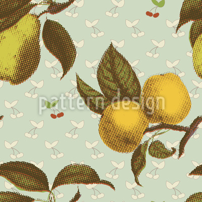 Rendevous With Fruits Seamless Vector Pattern Design