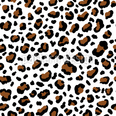 Cheetah Skin Seamless Vector Pattern Design
