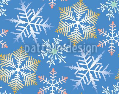 Kristallnacht Hellblau Muster Design