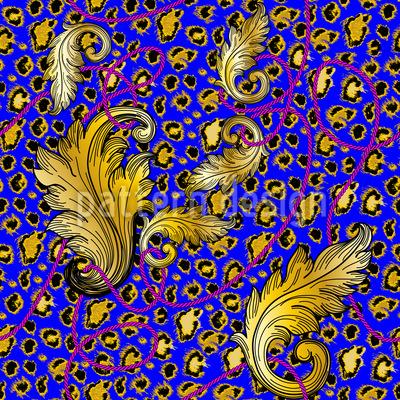 Opulent Leopard Seamless Vector Pattern