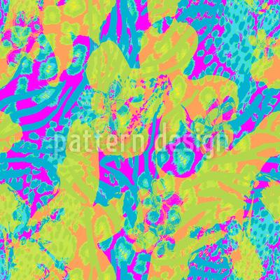 Leopard-Flower Vector Pattern