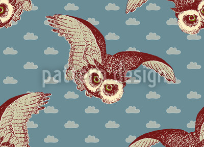 Night Express Seamless Vector Pattern Design
