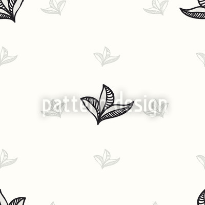 Delicate Leaves Seamless Pattern